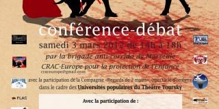 Conférence à Marseille le 3 mars 2012: « CORRIDA, L'IMPOSTURE ».