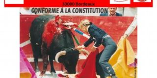 Manifestation anti corrida à Bordeaux