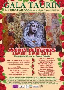 Affiche Gala Taurin 2 mai 2015 BéziersI