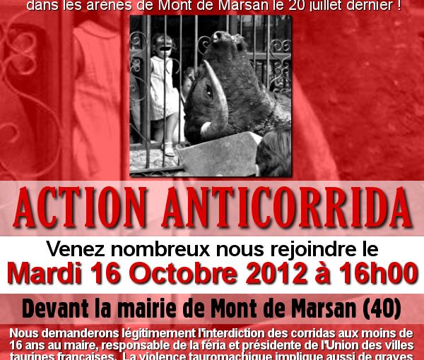 Nouvelle action anti-corrida à Mont de MarSANG