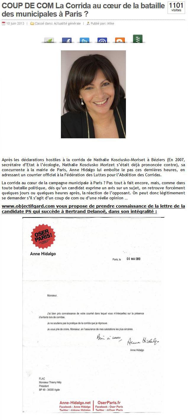 Deux nouveaux articles sur le même sujet : dans Midi Libre, édition nationale du 11 juin, et dans Objectif Gard ...