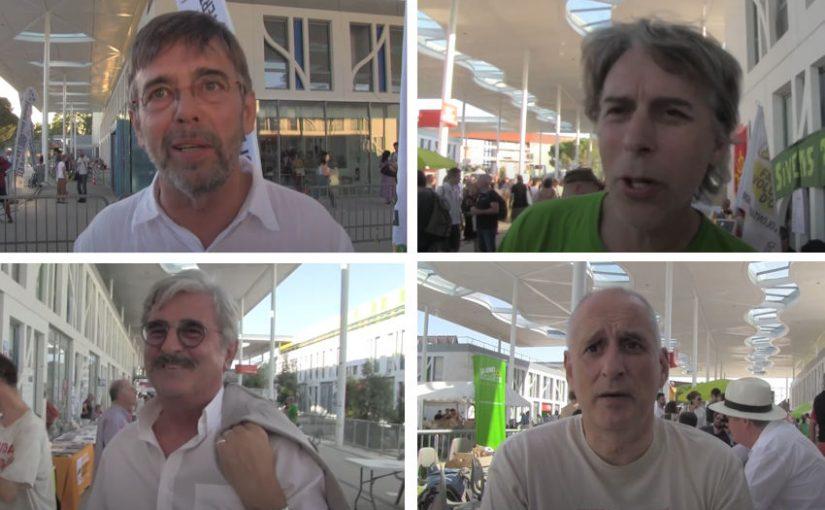 Interviews de quatre élus EELV aux Journées d'été de Toulouse, août 2019